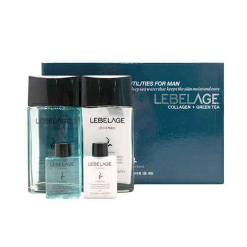Набор для мужчин с коллагеном и зеленым чаем Lebelage Collagen + Green Tea Skincare Utilites For Men