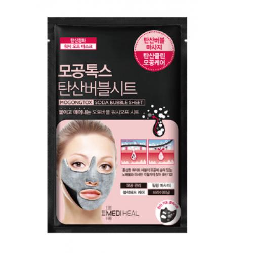 Очищающая маска с содой для кожи лица Mediheal Pore tox soda bubble sheet mask