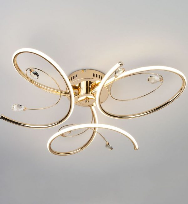Потолочный светильник Eurosvet Saona 90099/3 золото