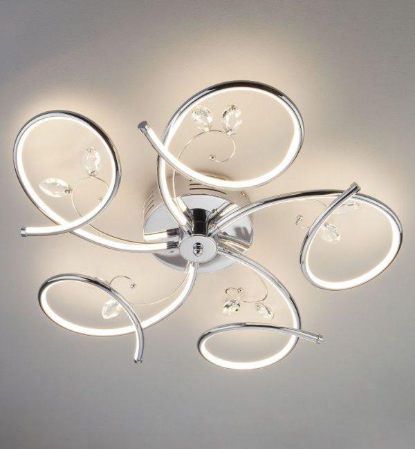 Потолочный светильник Eurosvet Agata 90089/5 хром